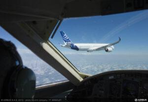 a350 vanuit de cockpit