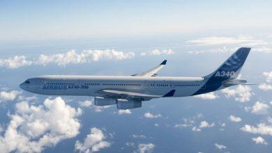 Photo of A340 verdwijnt van Schiphol