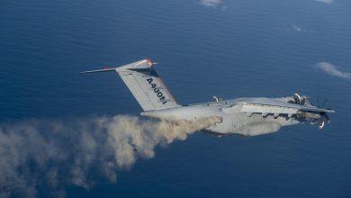 Photo of Duitse A400M naar Nederland voor parachutesprongen