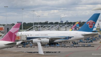 Photo of Superjumbo van China Southern weer op Schiphol