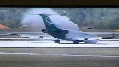 Photo of Video: Landing Boeing 727 zonder nose gear