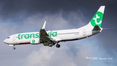 Photo of Transavia-toestel landt met harde zijwind | Video