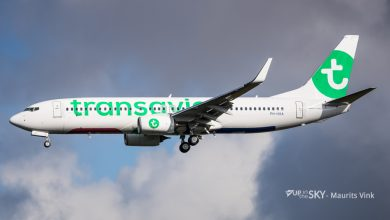 Photo of Transavia past procedures aan na gewonden turbulentie