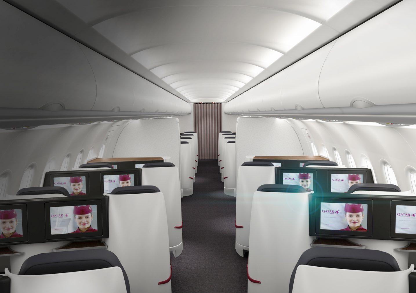 All premium Economy Qatar A319