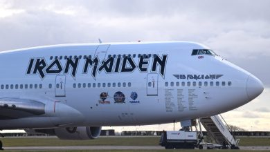 Photo of Iron Maiden's 'Ed Force One' naar Schiphol