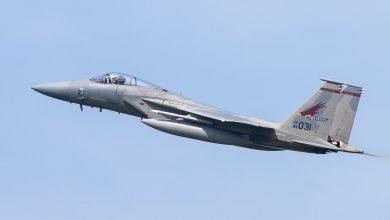 Photo of USAF F-15 vuurt raketten af vanwege probleem met landingsgestel