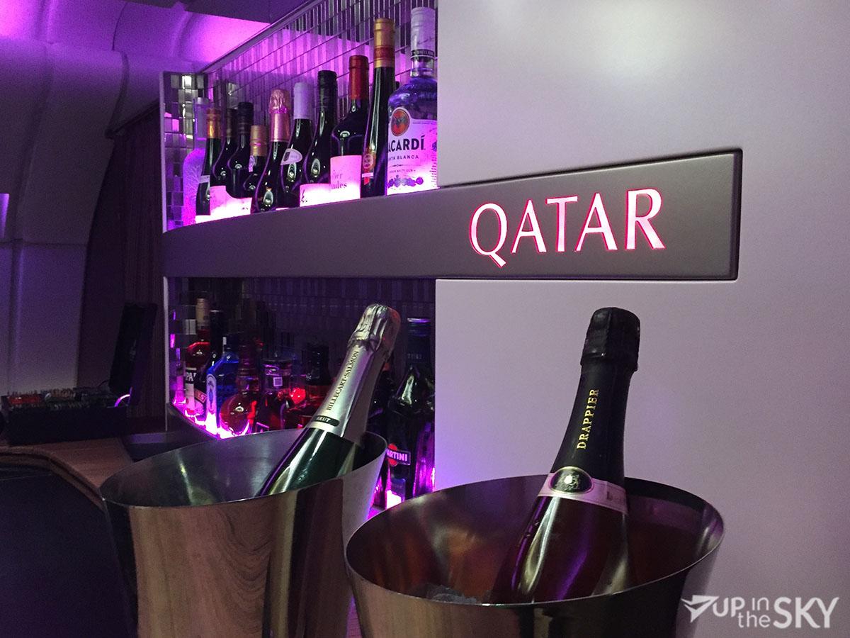 Qatar A380 Lounge Champagne