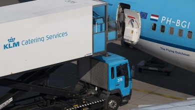 Photo of KLM catering in actie