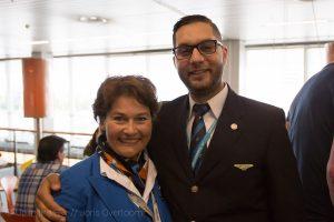 Taha Ben Moussa en Carola Masteling van travel & services KLM  (c) Joris Overtoom
