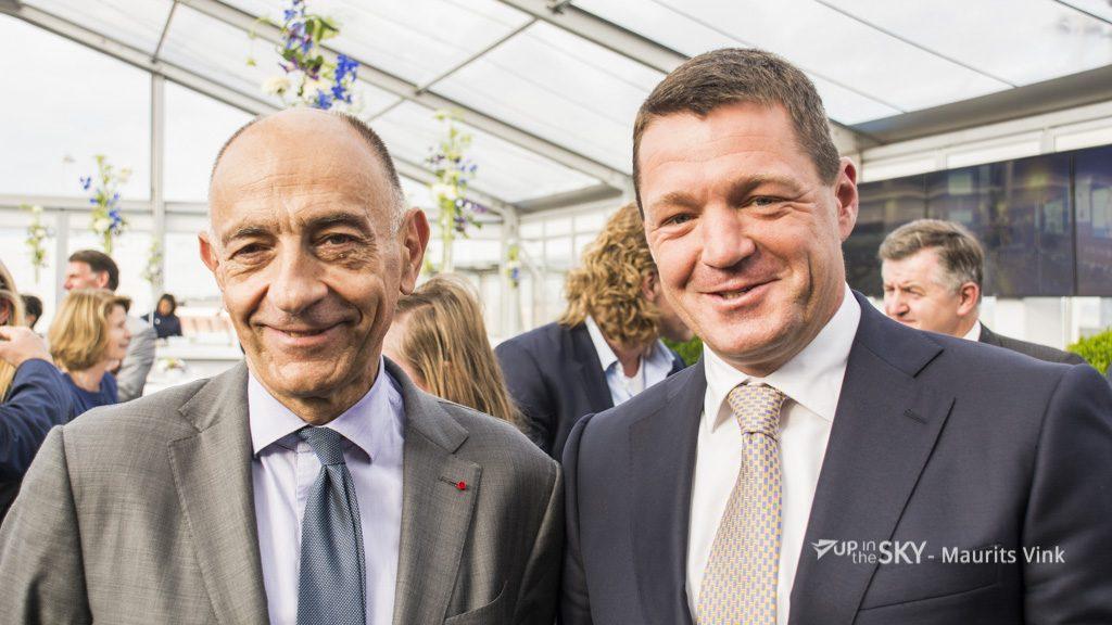 Jean-Marc Janaillac (L) en Pieter Elbers.