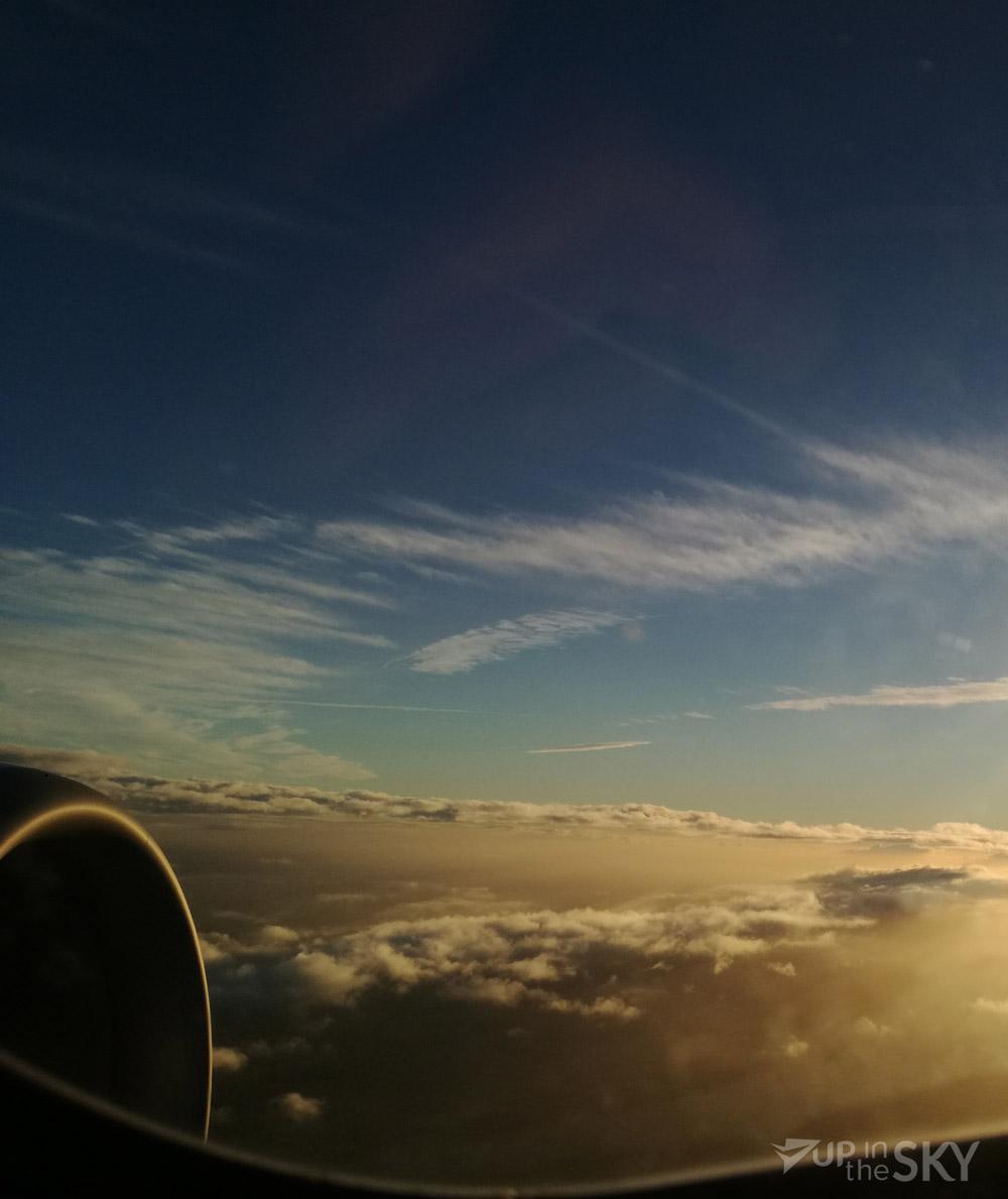 Het uitzicht op 37.000 ft.