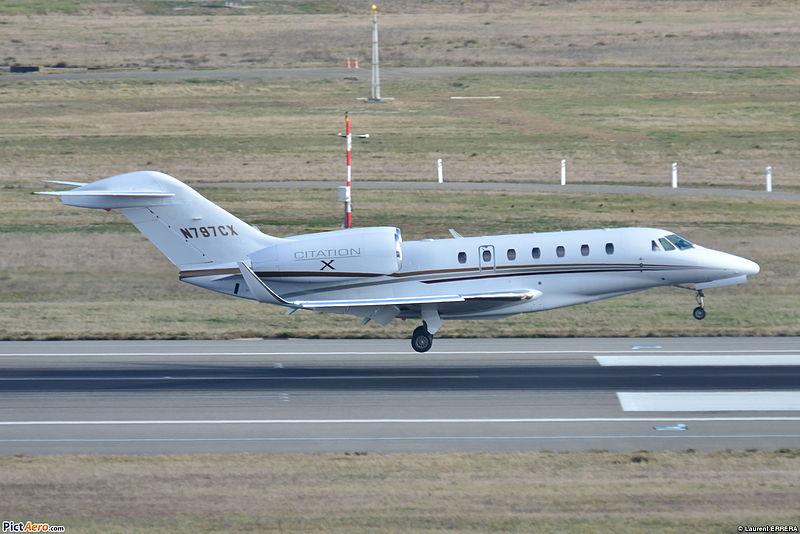 Een willekeurige Cessna 750 Citation X. Dit is dus niet het toestel van Trump. ©Laurent Errera