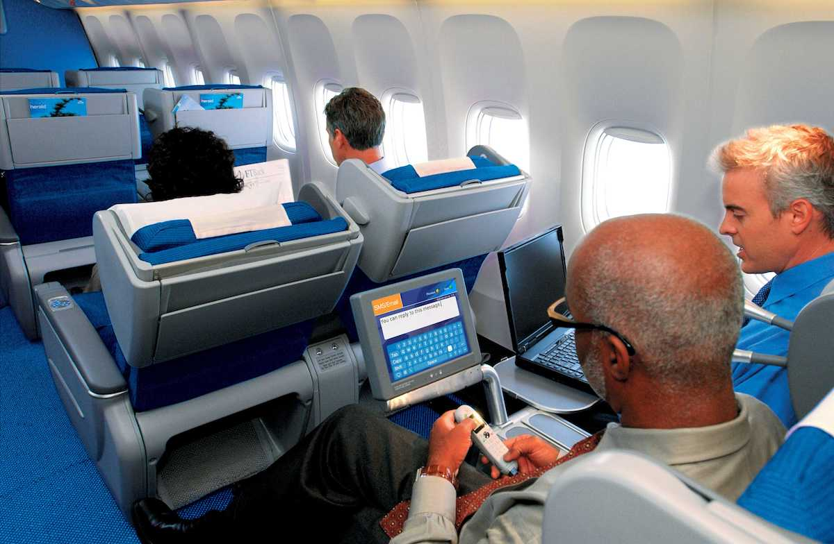 Oude business class ©KLM