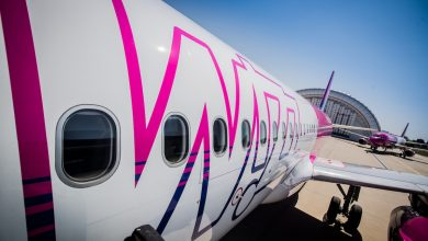 Photo of Wizz A320 vliegt laag door Budapest | video