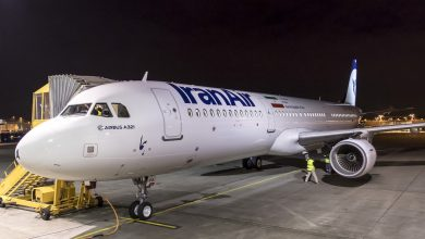 Photo of A319 Iran Air schiet van besneeuwde landingsbaan | Video