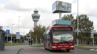 Photo of Bus botst tegen vrachtwagen bij Schiphol