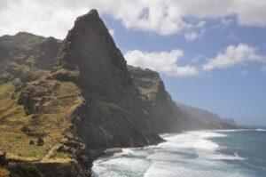 De kustlijn van Santo Antão, een eiland in Kaapverdië - ©Konstantin Krismer/Wikipedia