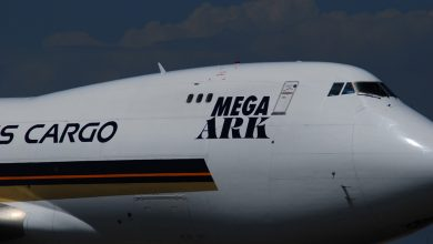 Photo of Motor 747 Singapore Airlines raakt baan bij go-around