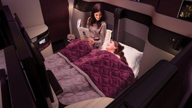 Photo of Qatar Airways met Qsuite naar China