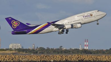 Photo of Boeing 747 van Thai Airways schiet van de baan | Foto's