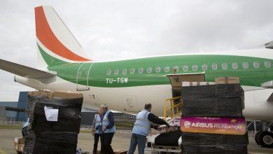 Photo of Airbus Foundation met A320 vol hulpgoederen naar Adidjan