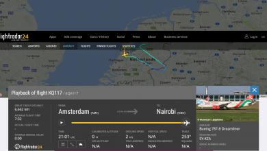 Photo of Kenya Dreamliner terug naar Schiphol na birdstrike