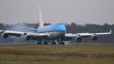 Photo of KLM-747 door motorproblemen vast in Los Angeles