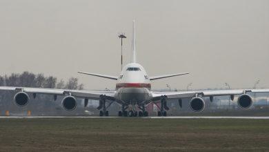 Photo of Vleugelpaneel valt van 747 van Japanse regering