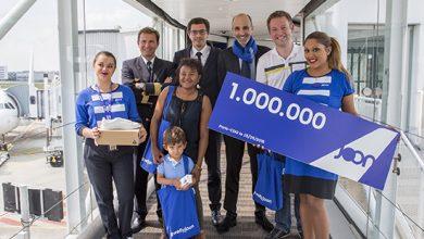 Photo of Miljoenste passagier voor Joon in Parijs ontvangen