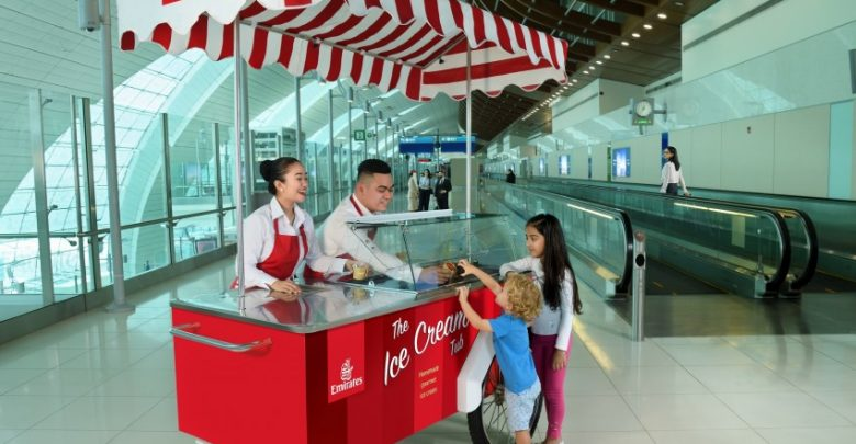 Emirates deelt gratis ijs uit - ©Emirates