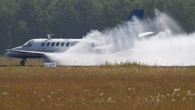 Photo of NLR voert waterproeven uit op Twente Airport