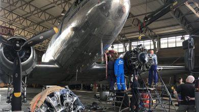 Photo of 'Groningse' DC-3 wijkt uit in Zweden door brandmelding