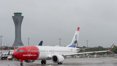 Photo of Norwegian 737 MAX gestrand in Iran