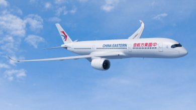 Photo of China Eastern met A350 op Schiphol