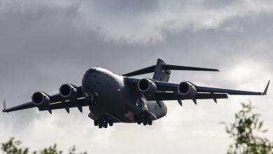 Photo of Laagvliegende C-17 tussen wolkenkrabbers Brisbane | Video