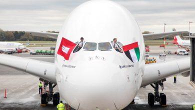 Photo of Emirates landt voor het eerst met A380 in Hamburg