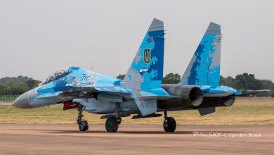 Photo of Oekraïense Sukhoi neergestort tijdens oefening met USAF