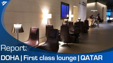 Photo of Report: First class lounge Qatar Airways in Doha