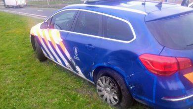 Photo of Beschadigde KMAR-voertuigen na achtervolging Schiphol