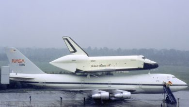 Photo of Zo koppelt een Space Shuttle zich los van een Boeing 747 in de lucht | Video