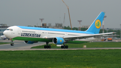 Photo of Boeing 767 raakt van de baan op Sint-Petersburg