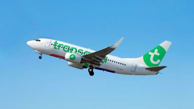Photo of Piloot toont Transavia take-off vanuit Eindhoven Airport | Video