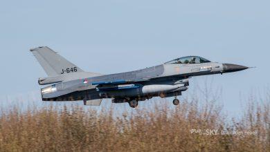 Photo of F-16's oefenen tijdelijk vanaf vliegbasis Eindhoven