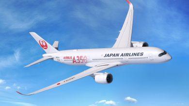 Photo of JAL met A350's in speciale jasjes de lucht in