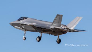Photo of Eerste F-35 voor squadron Leeuwarden landt 31 oktober