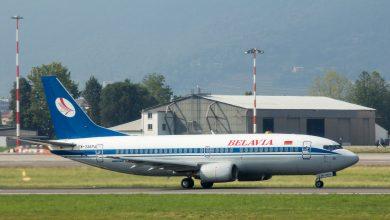 Photo of Belavia 737 belandt in gras bij landing