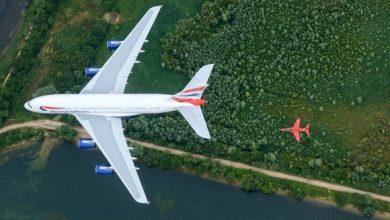 Photo of Red Arrows en BA-747 vliegen samen op Royal Air Tattoo   Video