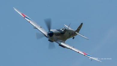 Photo of 'Silver Spitfire' geland op Lelystad