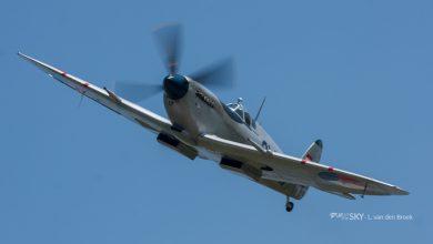Photo of 'Silver Spitfire' doet Nederland aan tijdens vlucht om de wereld