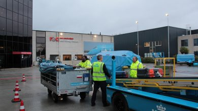 Photo of KLM bouwt platform en bagagehal na voor training grondpersoneel